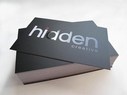飞印网铜版纸名片印刷UV工艺